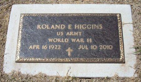 HIGGINS (VETERAN WWII), ROLAND E - Baca County, Colorado   ROLAND E HIGGINS (VETERAN WWII) - Colorado Gravestone Photos
