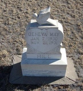 HILL, GENEVA MAY - Baca County, Colorado | GENEVA MAY HILL - Colorado Gravestone Photos