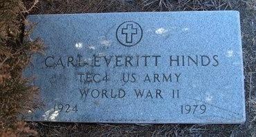HINDS (VETERAN WWII), CARL EVERETT - Baca County, Colorado | CARL EVERETT HINDS (VETERAN WWII) - Colorado Gravestone Photos