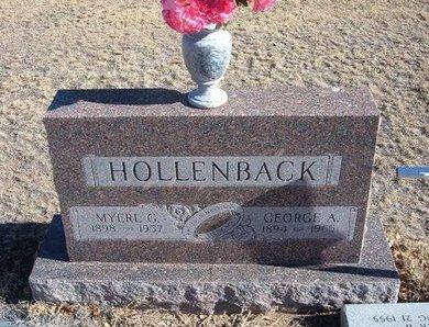 HARTLEY HOLLENBACK, MYREL GLADYS - Baca County, Colorado | MYREL GLADYS HARTLEY HOLLENBACK - Colorado Gravestone Photos