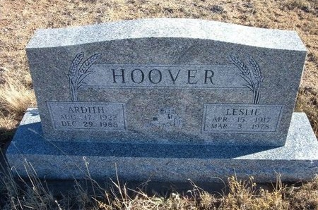 HOOVER, LESLIE LEONARD - Baca County, Colorado | LESLIE LEONARD HOOVER - Colorado Gravestone Photos