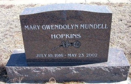HOPKINS, MARY GWENDOLYN - Baca County, Colorado | MARY GWENDOLYN HOPKINS - Colorado Gravestone Photos