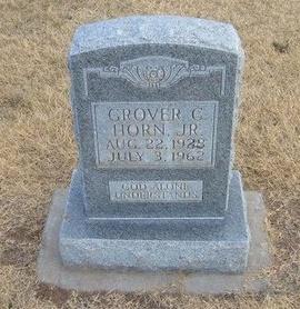 HORN, JR, GROVER C - Baca County, Colorado | GROVER C HORN, JR - Colorado Gravestone Photos