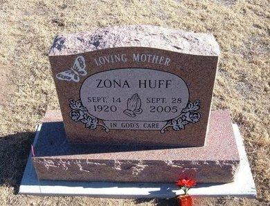 HUFF, ZONA MAE - Baca County, Colorado | ZONA MAE HUFF - Colorado Gravestone Photos