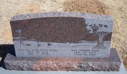 HUME, MAX HOWARD - Baca County, Colorado | MAX HOWARD HUME - Colorado Gravestone Photos