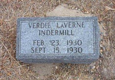 INDERMILL, VERDIE LAVERNE - Baca County, Colorado | VERDIE LAVERNE INDERMILL - Colorado Gravestone Photos