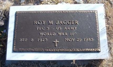 JAGGER (VETERAN WWII), ROY M - Baca County, Colorado | ROY M JAGGER (VETERAN WWII) - Colorado Gravestone Photos