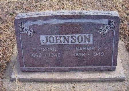 JOHNSON, F OSCAR - Baca County, Colorado   F OSCAR JOHNSON - Colorado Gravestone Photos