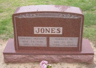 "PULLINS JONES, VIRGINIA C ""JENNIE"" - Baca County, Colorado 