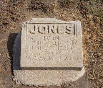 JONES, IVAN - Baca County, Colorado | IVAN JONES - Colorado Gravestone Photos