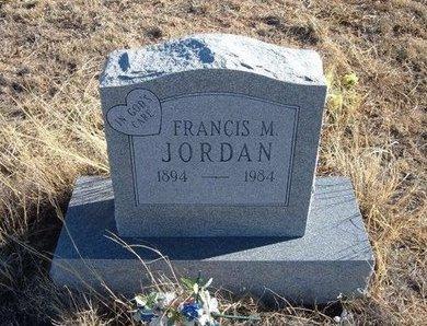JORDAN, FRANCIS M - Baca County, Colorado | FRANCIS M JORDAN - Colorado Gravestone Photos