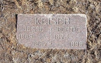 KEISER, BERTIE - Baca County, Colorado | BERTIE KEISER - Colorado Gravestone Photos