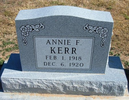 KERR, ANNIE F - Baca County, Colorado | ANNIE F KERR - Colorado Gravestone Photos