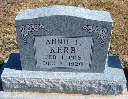 KERR, ANNIE F - Baca County, Colorado | ANNIE F KERR - Colorado Gravestone Photos