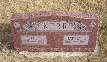 KERR, EFFIE V - Baca County, Colorado   EFFIE V KERR - Colorado Gravestone Photos