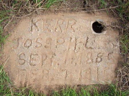 KERR, JOSEPH LEWIS - Baca County, Colorado | JOSEPH LEWIS KERR - Colorado Gravestone Photos
