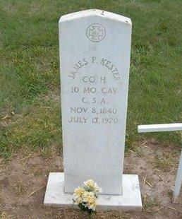 KESTER (VETERAN CSA), JAMES P - Baca County, Colorado   JAMES P KESTER (VETERAN CSA) - Colorado Gravestone Photos