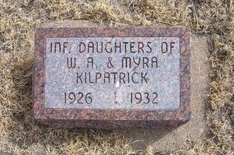 KILPATRICK, INFANT DAUGHTER - Baca County, Colorado | INFANT DAUGHTER KILPATRICK - Colorado Gravestone Photos