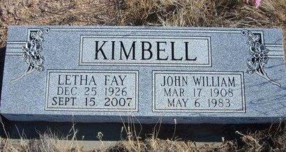 KIMBELL, LETHA FAY - Baca County, Colorado | LETHA FAY KIMBELL - Colorado Gravestone Photos