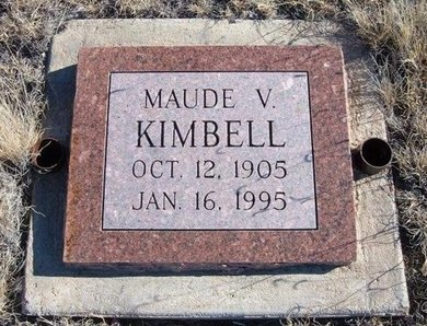 KIMBELL, MAUDE V - Baca County, Colorado | MAUDE V KIMBELL - Colorado Gravestone Photos