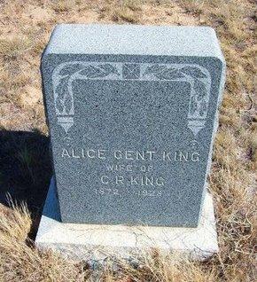 KING, ALICE GENT - Baca County, Colorado | ALICE GENT KING - Colorado Gravestone Photos