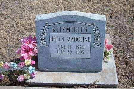 KITZMILLER, HELEN MADOLINE - Baca County, Colorado | HELEN MADOLINE KITZMILLER - Colorado Gravestone Photos