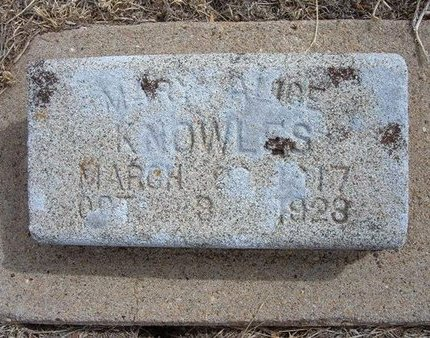 KNOWLES, MARY ALICE - Baca County, Colorado | MARY ALICE KNOWLES - Colorado Gravestone Photos