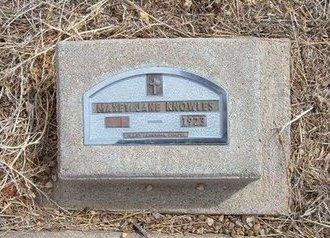 KNOWLES, MAXEY JANE - Baca County, Colorado   MAXEY JANE KNOWLES - Colorado Gravestone Photos