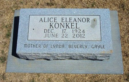 KONKEL, ALICE ELEANOR - Baca County, Colorado | ALICE ELEANOR KONKEL - Colorado Gravestone Photos