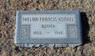 KONKEL, THELMA FRANCIS - Baca County, Colorado | THELMA FRANCIS KONKEL - Colorado Gravestone Photos