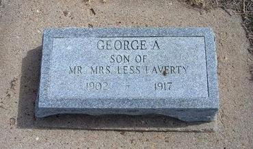 LAVERTY, GEORGE A - Baca County, Colorado | GEORGE A LAVERTY - Colorado Gravestone Photos
