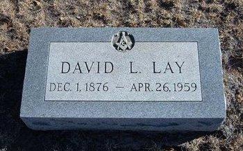 LAY, DAVID L - Baca County, Colorado | DAVID L LAY - Colorado Gravestone Photos
