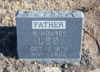 LEE, W MONROE - Baca County, Colorado | W MONROE LEE - Colorado Gravestone Photos