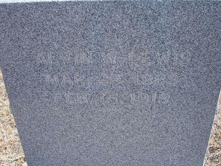 LEWIS, ALVIN W - Baca County, Colorado | ALVIN W LEWIS - Colorado Gravestone Photos