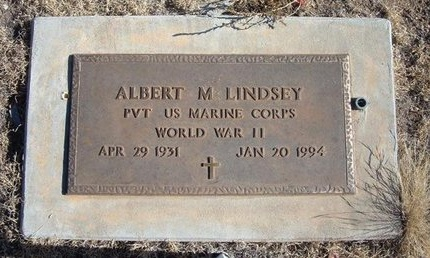 LINDSEY (VETERAN WWII), ALBERT M - Baca County, Colorado   ALBERT M LINDSEY (VETERAN WWII) - Colorado Gravestone Photos