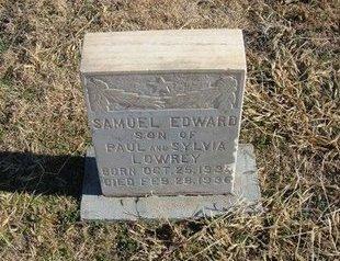 LOWERY, SAMUEL EDWARD - Baca County, Colorado   SAMUEL EDWARD LOWERY - Colorado Gravestone Photos