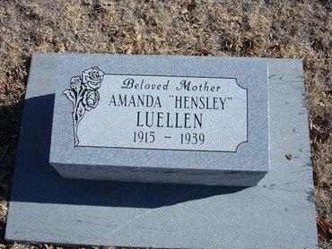 LUELLEN, AMANDA - Baca County, Colorado   AMANDA LUELLEN - Colorado Gravestone Photos