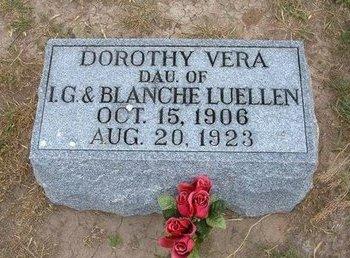 LUELLEN, DOROTHY VERA - Baca County, Colorado   DOROTHY VERA LUELLEN - Colorado Gravestone Photos