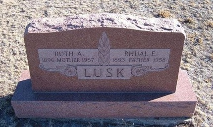 LUSK, RHUAL E - Baca County, Colorado | RHUAL E LUSK - Colorado Gravestone Photos