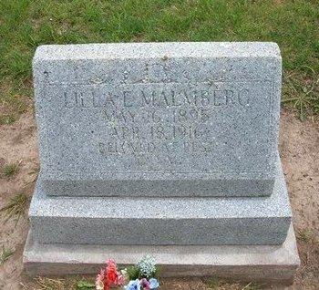 MALMBERG, LILLA E - Baca County, Colorado | LILLA E MALMBERG - Colorado Gravestone Photos