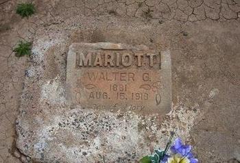 MARIOTT, WALTER G - Baca County, Colorado | WALTER G MARIOTT - Colorado Gravestone Photos