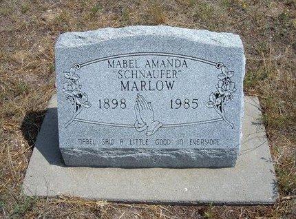 MARLOW, MABEL AMANDA - Baca County, Colorado | MABEL AMANDA MARLOW - Colorado Gravestone Photos