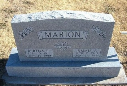MARION, JIMMIE PARKS - Baca County, Colorado | JIMMIE PARKS MARION - Colorado Gravestone Photos
