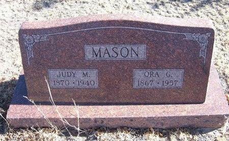MASON, ORA G - Baca County, Colorado   ORA G MASON - Colorado Gravestone Photos