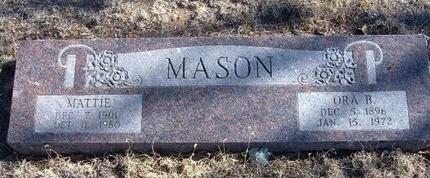 MASON, MATTIE MAE - Baca County, Colorado | MATTIE MAE MASON - Colorado Gravestone Photos