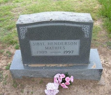 HENDERSON MATHIES, SIBYL - Baca County, Colorado | SIBYL HENDERSON MATHIES - Colorado Gravestone Photos