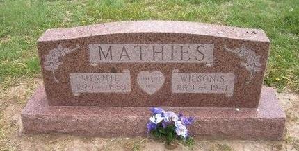 MATHIES, WILSON S - Baca County, Colorado | WILSON S MATHIES - Colorado Gravestone Photos