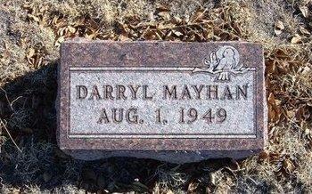 MAYHAN, DARRYL - Baca County, Colorado | DARRYL MAYHAN - Colorado Gravestone Photos