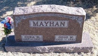 MAYHAN, ODUS WILSON - Baca County, Colorado | ODUS WILSON MAYHAN - Colorado Gravestone Photos