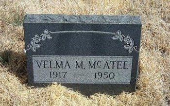 MCATEE, VELMA MARGARET - Baca County, Colorado | VELMA MARGARET MCATEE - Colorado Gravestone Photos